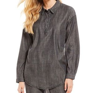 Eileen Fisher Black Denim Tunic